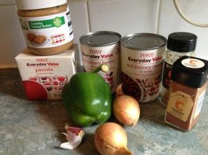 kidney bean stew ingredients