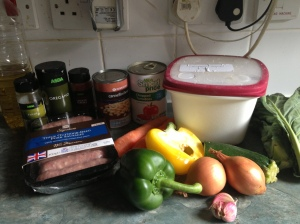 sausage casserole ingredients