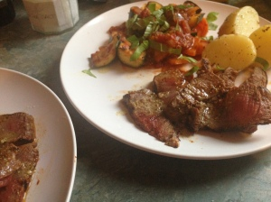steak with ratatouille 2
