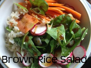 brown rice salad header