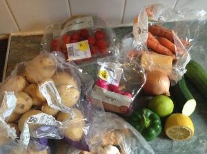 leftover veg