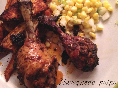 sweetcorn salsa