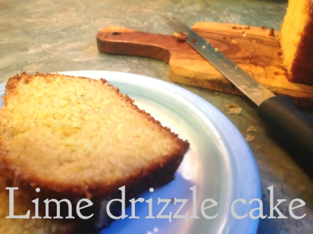 lime drizzle cake header