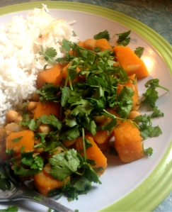 squash and chickpea tagine