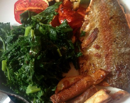 trout veg and kale